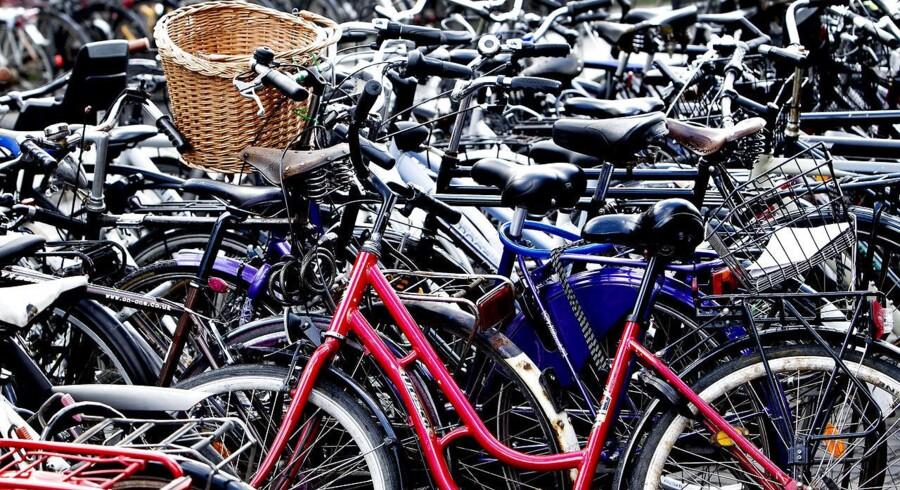 Der er ny cykelparkering på vej til København.