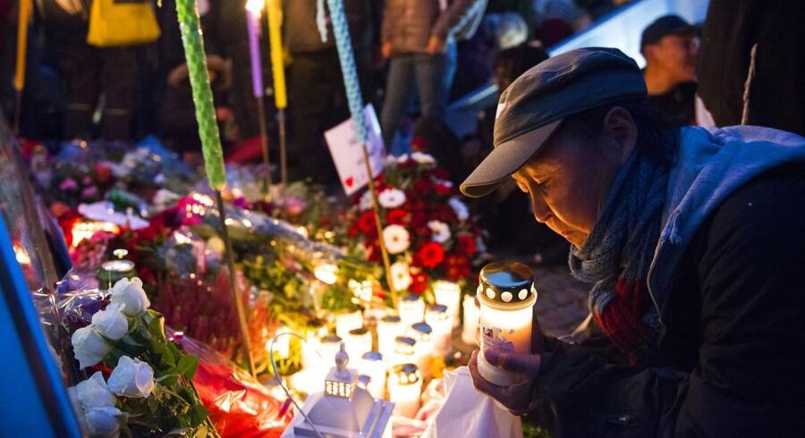 Arkivbillede fra fakkeloptog fra Amagerbro Torv til Christiansborg onsdag 8. oktober 2014 for at mindes den hjemløse Daniel der døde.