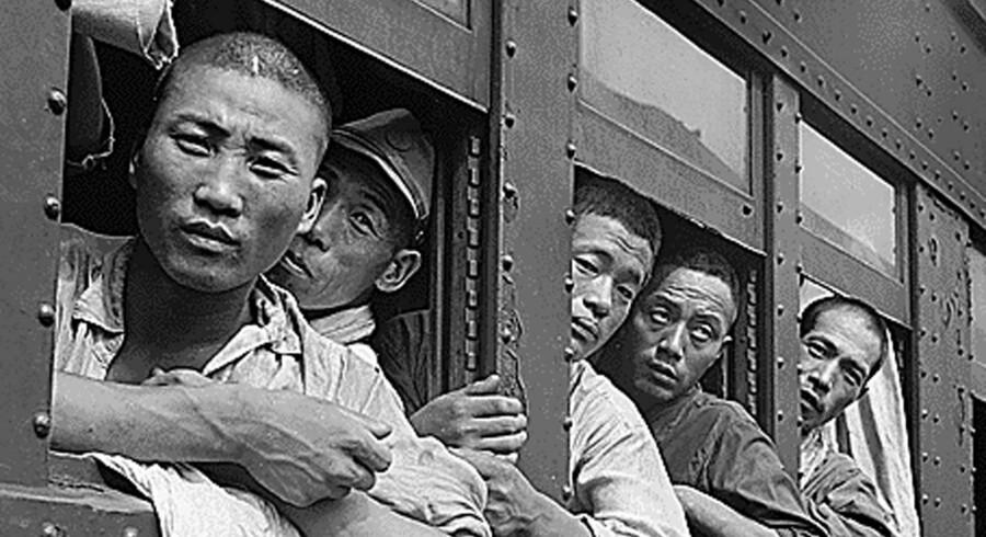 Japanske soldater efter nederlaget, september 1945.