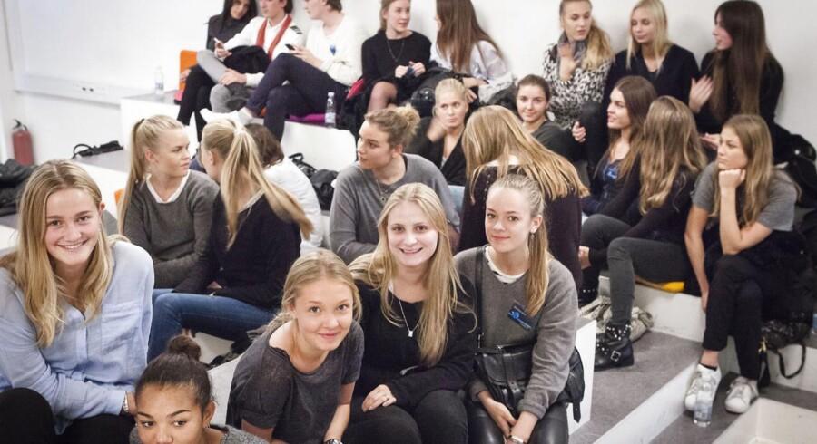 Glade elever på Øregård Gymnasium.