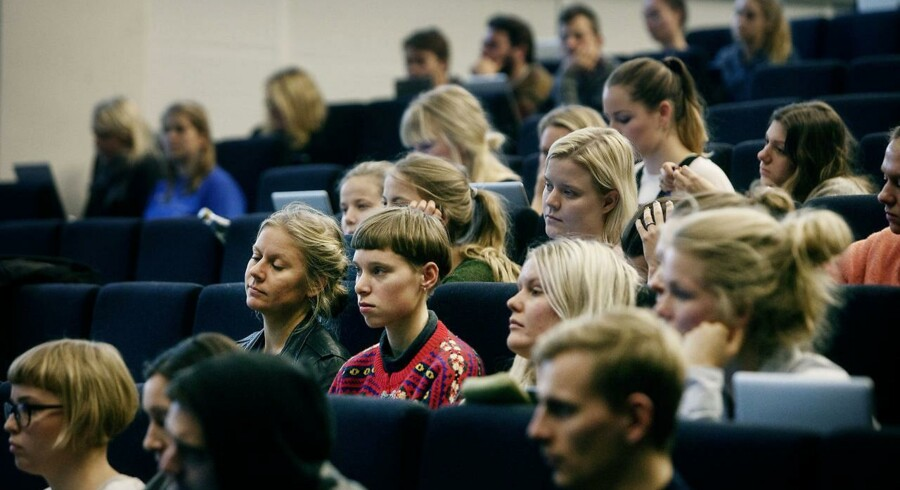 Arkivfoto: Forelæsning i dansk på Institut for nordiske studier og sprogvidenskab, Københavns Universitet Amager.
