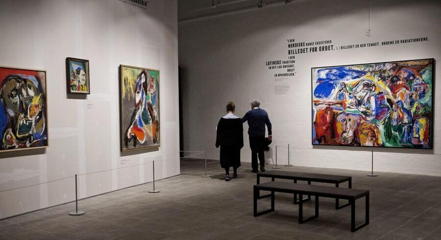 Asger Jorns udstilling på Statens museum for kunst (arkivfoto)