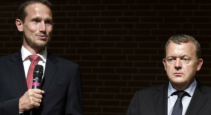 Nå, hvem bestemmer så egentlig over Danmarks udenrigspolitik – udenrigsminister og Venstre-næstformand Kristian Jensen (tv.) eller statsminister og V-formand Lars Løkke Rasmussen Arkivfoto: Niels Ahlmann Olesen