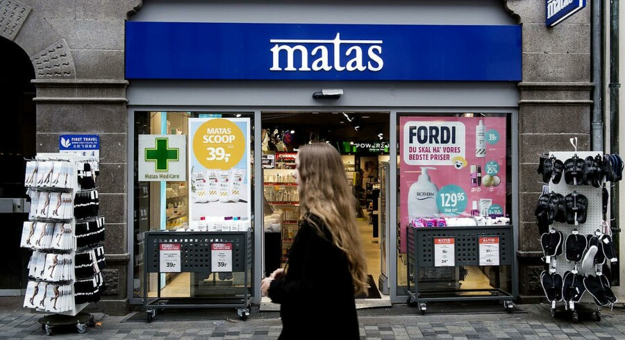 Færre handelsdage presser Matas (Foto: Liselotte Sabroe/Scanpix 2017)