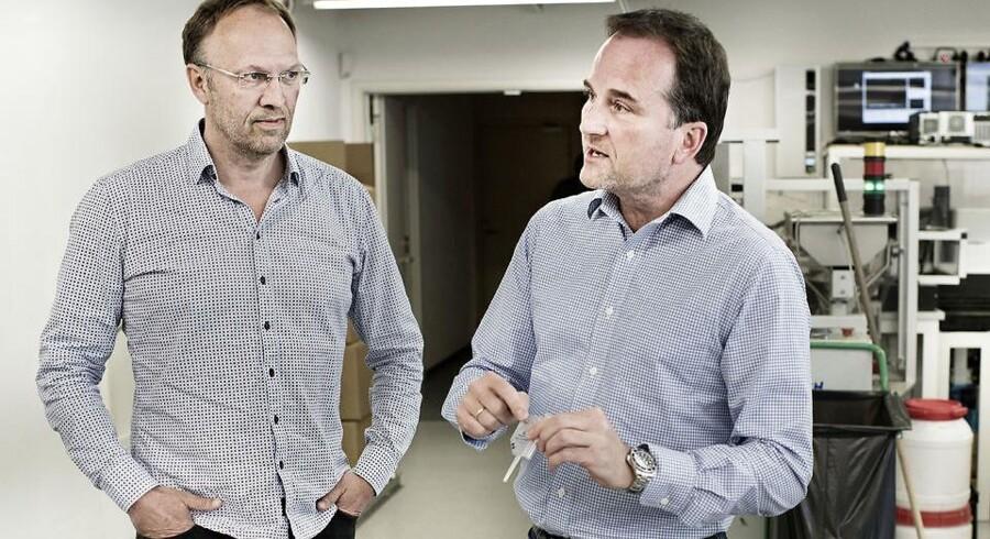CEO Michael Eising og vicebestyrelsesformand Martin Glensbjerg fra Chemometec.