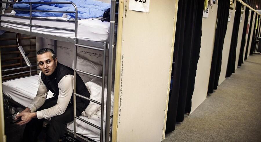 Asylansøger Mohamad Salai i Næstveds teltlejr for flygtninge.