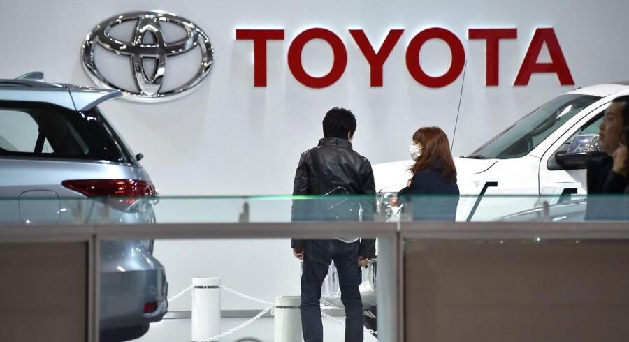 Foto fra Toyota-forretning i Japan.