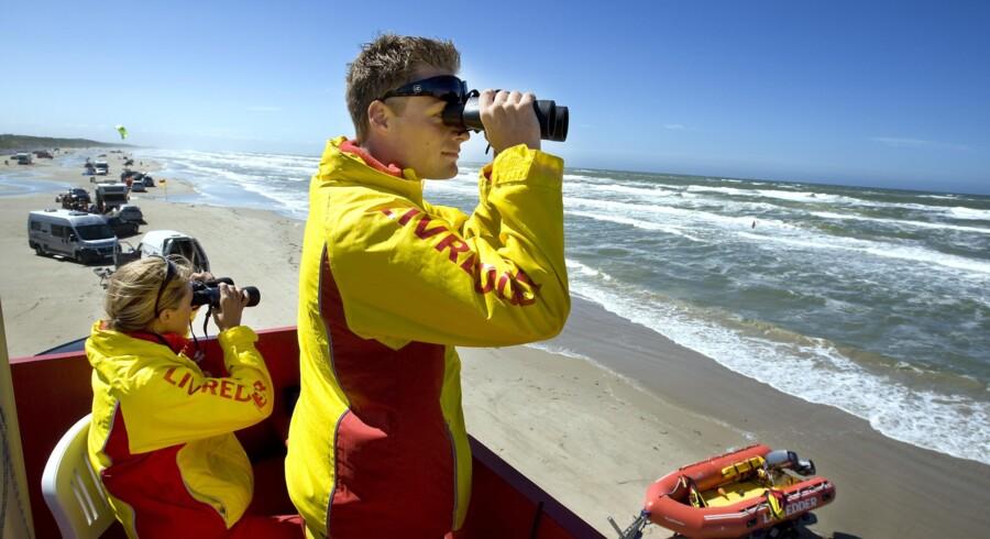 TrygFondens kystlivreddere er nogle af de meget synlige tegn på, hvad erhvervslivets fonde bidrager med til samfundet. Arkivfoto: Henning Bagger