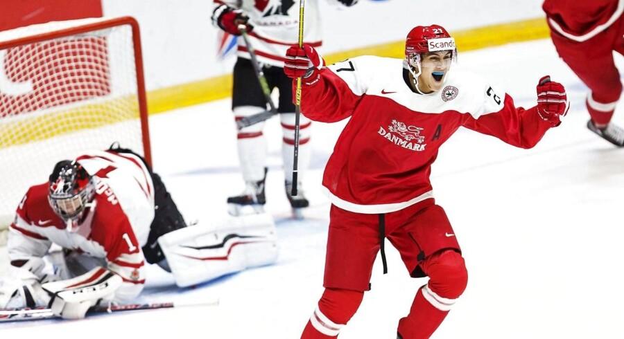 Arkivfoto. Jonas Røndbjerg blev taget som nummer 65 af Vegas Golden Knights i NHL-draften.Jonas Røndbjerg blev taget som nummer 65 af Vegas Golden Knights i NHL-draften.