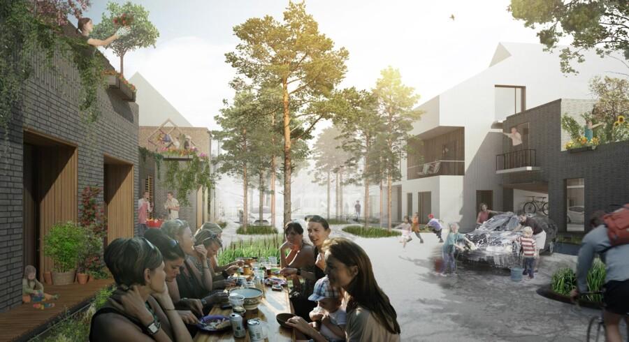 Over de næste 20 år vil Høje-Taastrup Kommune og Realdania By og Byg opføre den helt nye bydel, NærHeden. Den skal være et forbillede for fremtidens bæredygtige forstad og kommer til at ligge syd for Hedehusene Station – 20 minutter fra Københavns Hovedbanegård. De første boliger står klar i 2017.