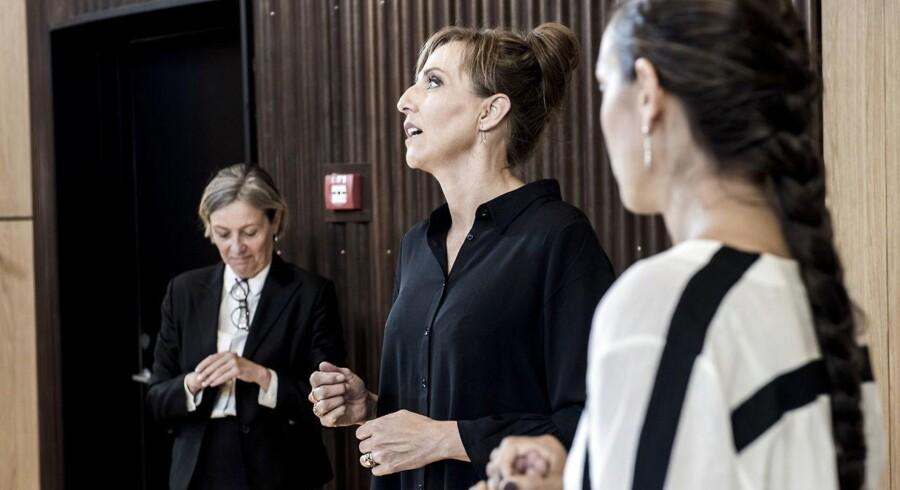 """Berlingske holder arrangementet """"Kvinder på toppen"""" i Gorrissen Federspiel Axel Towers. De to talere var adm. direktør hos Bjarke Ingels Group Sheela Maini Søgaard og adm. direktør Merete Agergaard hos Skat."""