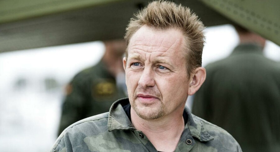 Den danske opfinder Peter Madsen ses her, efter han kom i land i Dragør forrige fredag.