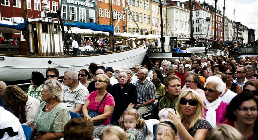 Kanalrumfarten ved Nyhavn er kendt for at tiltrække store mængder af turister