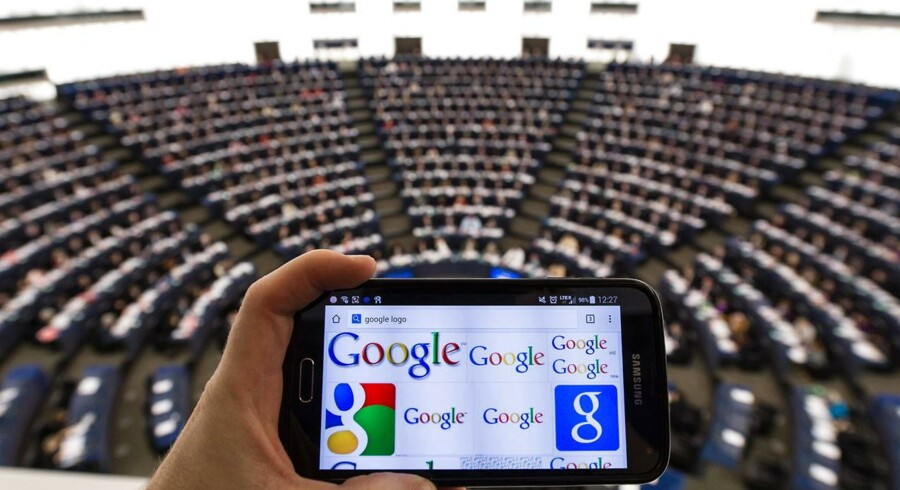 Et flertal i Europaparlamentet kræver, at EU tager initiativ til at få Google splittet op i to selskaber. Foto: Patrick Seeger, EPA/Scanpix