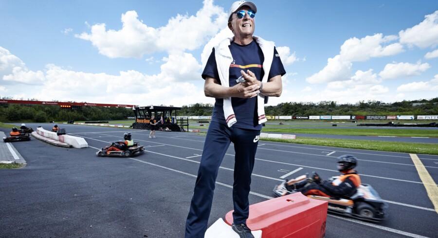 Racerkøreren Thorkild Thyrring har fart i blodet. På Roskilde Racing Center går det knap så hurtigt i gokarts, men han håber og tror på, at København med det nye initiativ kan blive vært for et Formel 1 Grand Prix i løbet af få år. Foto: Jens Astrup
