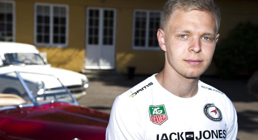 Kevin Magnussen før Formel 1-kontrakten med McLaren - dengang hovedsponsoren hed Jack & Jones.
