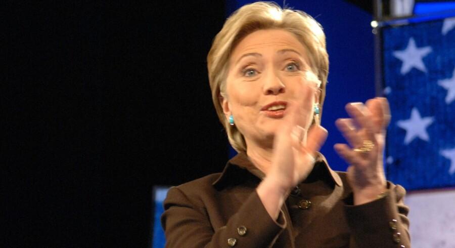 Hillary Clinton vil efter alt at dømme stå på stemmesedlen ved præsidentvalget til november i USA. Free/Colourbox
