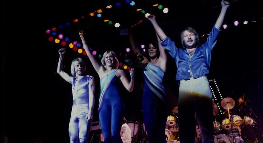 ABBA i KB Hallen. Björn Ulvaeus, Agnetha Fältskog, Anni-Frid Lyngstad, Benny Andersson.