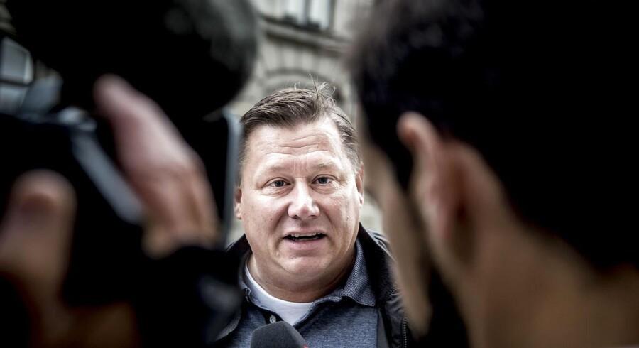 Jesper Laustrup Nielsen, bedre kendt som Kasi-Jesper, ankommer mandag den 11. september 2017 til Østre Landsret i Bredgade i København. Han endte med at vinde sagen.