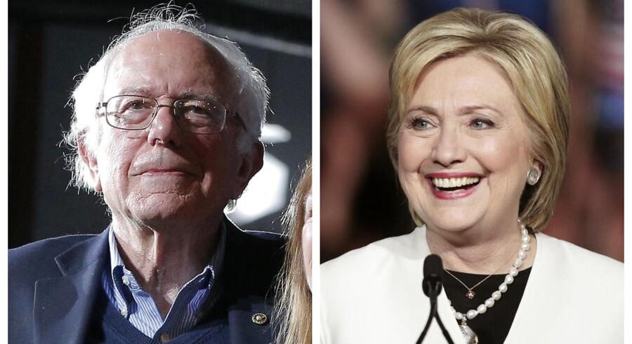 Hos Demokraterne bevarede Hillary Clinton hullet ned til Bernie Sanders med lørdagens sejr i Louisiana.