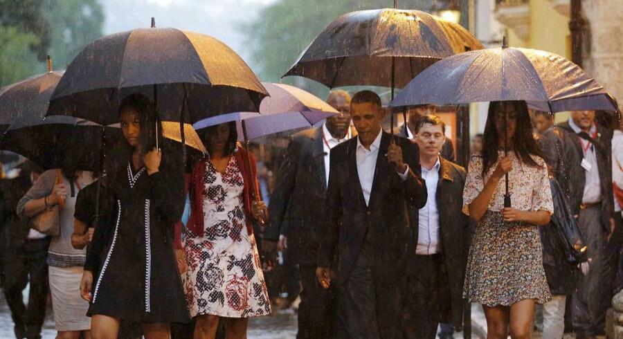 Den amerikanske præsident har netop begyndt et tre-dages besøg på Cuba.