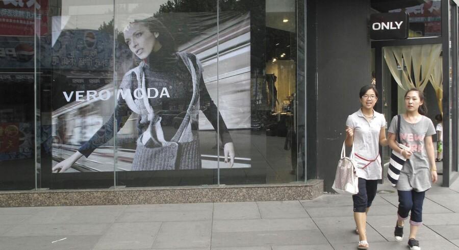 Butik med danske Bestseller produkter i Hangzhou i Kina.