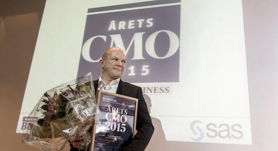 Årets CMO 2015 - Anders Rene Jensen fra Rema 1000 blev i dag, mandag 26. januar kåret til årets Chief Marketing Officer ved en begivenhed i det Berlingske Hus(Foto: Søren Bidstrup/Scanpix 2015)