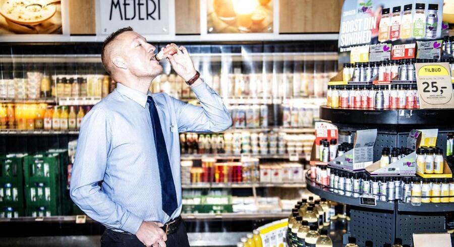 Frederik Krohn er varehuschef i Føtex på Vesterbrogade og oplever forbrugernes stigende efterspørgsel på sunde varer.