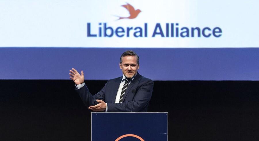 Udenrigsminister og politisk leder Anders Samuelsen. Liberal Alliances landsmøde 2017 i Aalborg Kongres & Kultur Center.