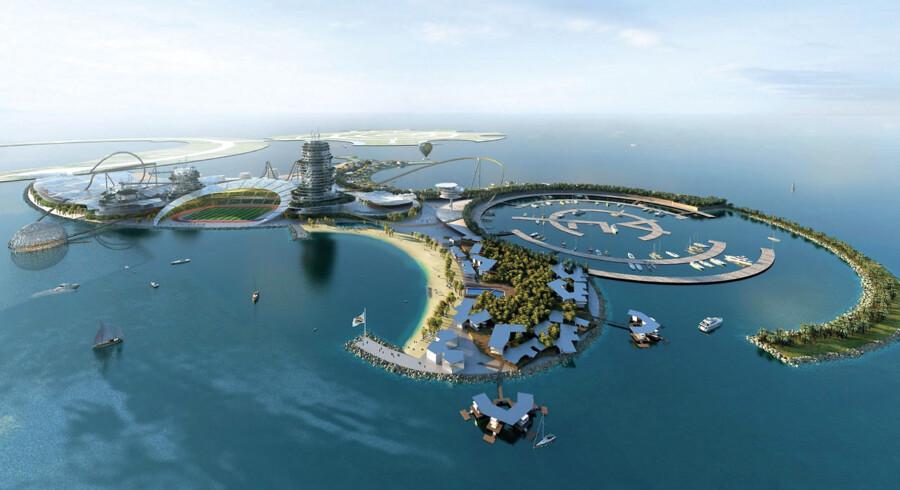 Festøen bliver ø nummer 3, Dream Island, i den kunstige gruppe Al Marjan Island.
