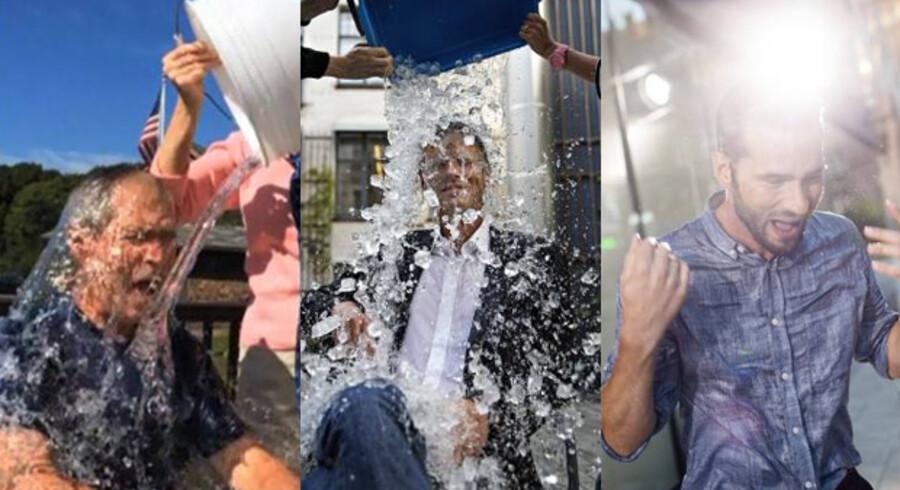 George W. Bush, Bo Lidegaard og Kristian Porsgaard Rosasco har tagetThe Ice Bucket Challenge.