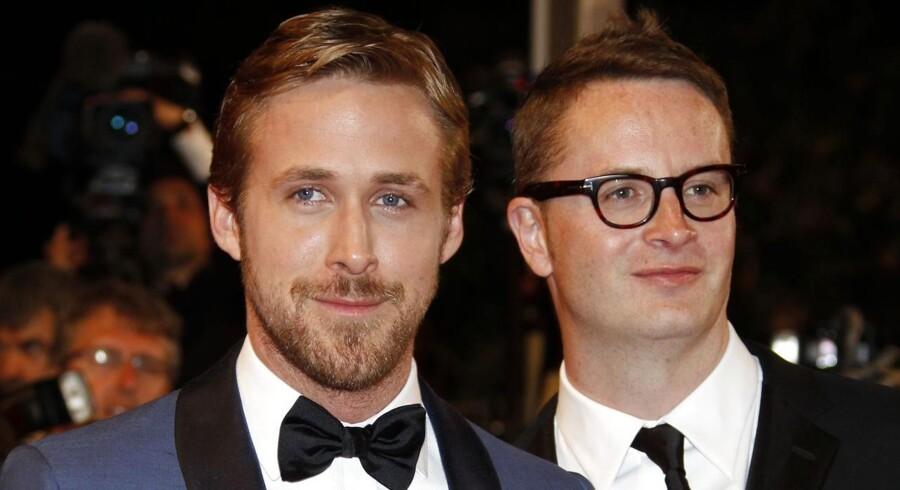 """Ryan Gosling og Nicolas Winding Refn, da parret sidst var i Cannes for at præsentere Refns forrige film """"Drive"""". Nu gælder det deres nye film """"Only God Forgives"""", der har verdenspremiere på festivalens hovedkonkurrence. Foto: Francois Guillot"""