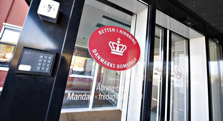 ARKIVFOTO 2011 af Retten i Hjørring- - Se RB KRIMINAL 10.15- -Retsbygningerne i Holbæk, Odense, Hjørring og Aalborg og på Frederiksberg har torsdag modtaget en trussel.. (Foto: Henning Bagger/Scanpix 2017)
