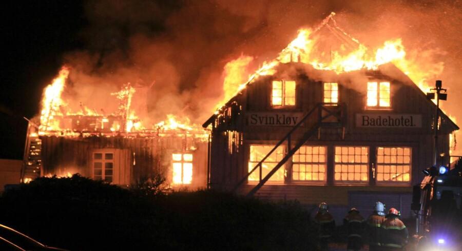 Svinkløv Badehotel brændte natten til d. 26. september ned til grunden. Badehotellet blev bygget i 1925, og var Danmarks største træhus.