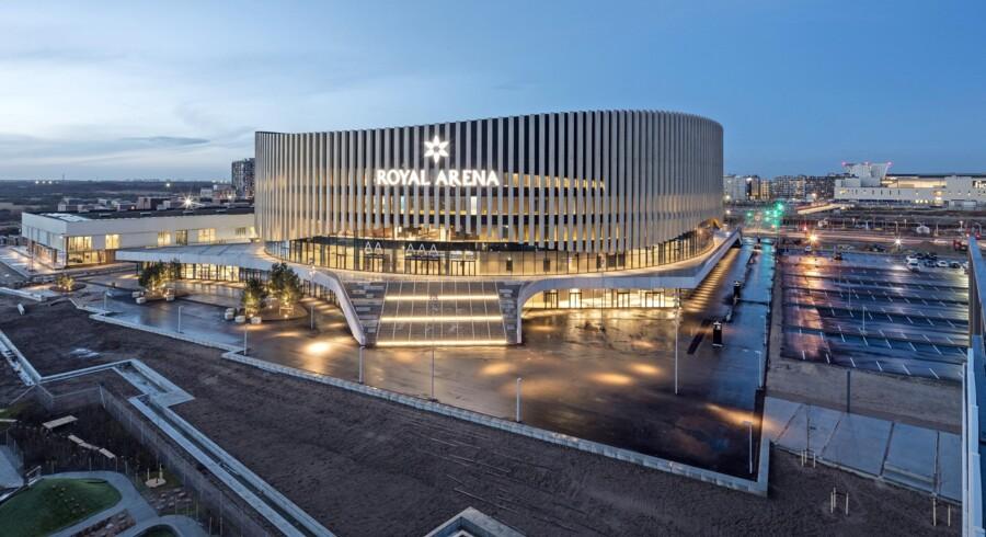Royal Arena er landet i Ørestad i København, og på fredag strømmer de første 16.000 heavyfans til for at høre og se Metallica åbne ballet. Det kan trække lange trafikale spor. PR-foto: Adam Mørk