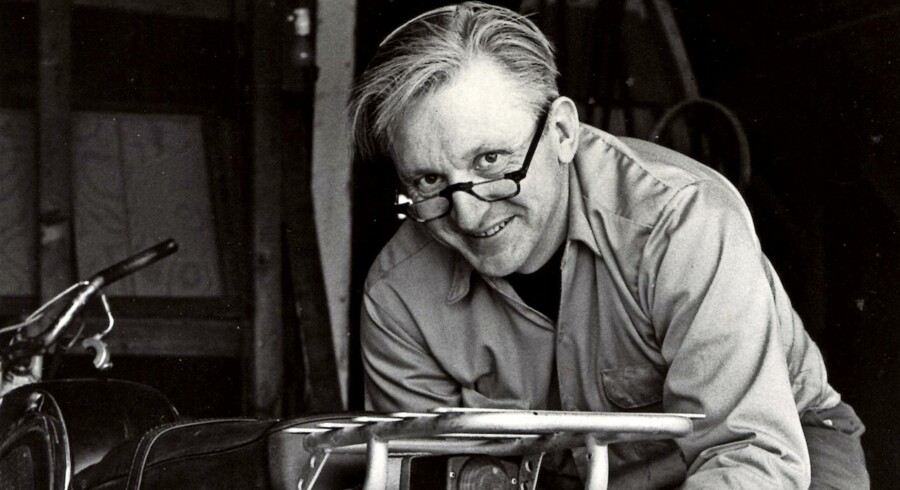 "BMINTERN - This 1975 image released by William Morrow shows author Robert M. Pirsig working on a motorcycle. Pirsig, whose novel ""Zen and the Art of Motorcycle Maintenance"" became a million-selling classic after more than 100 publishers turned it down, died at his home in South Benwick, Maine on Monday, April 24, 2017. He was 88. (William Morrow via AP)"