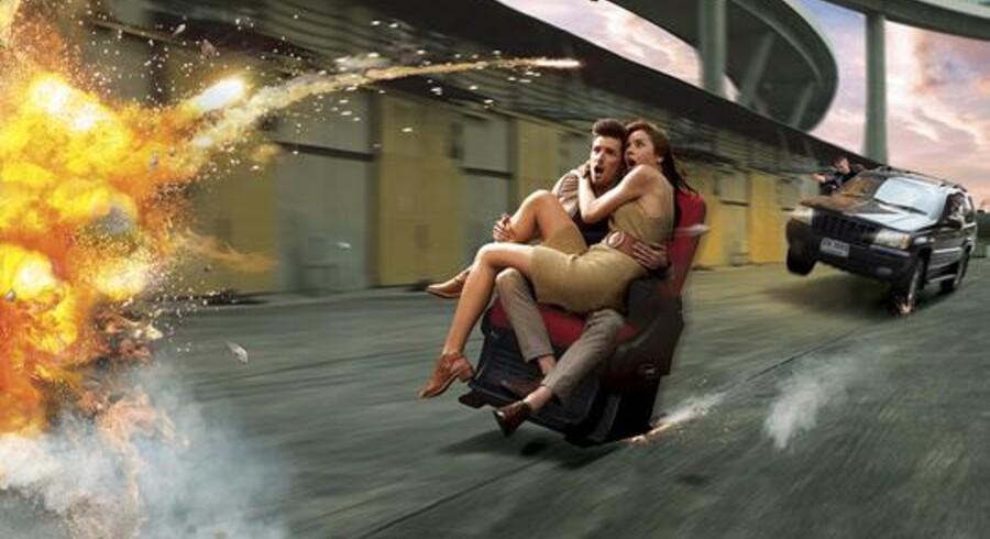Pigen må man(d) selv medbringe, men ellers er 4DX-salen pakket med effekter til at højne filmoplevelsen. Promotionbillede fra Noridsk Film.