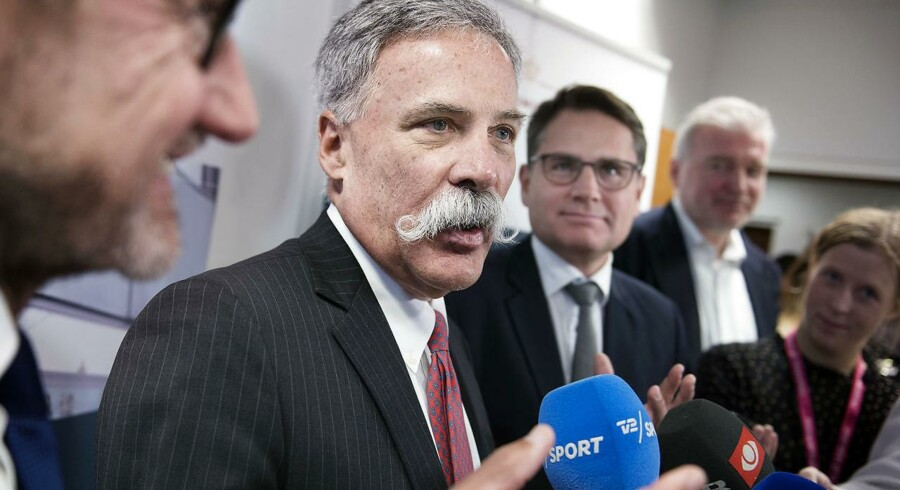 Den øverste chef for Formel 1's ejere Chase Carey mødes med initiativtagerne Helge Sander og Lars Seier Christensen hos erhversminister Brian Mikkelsen onsdag den 10 januar.