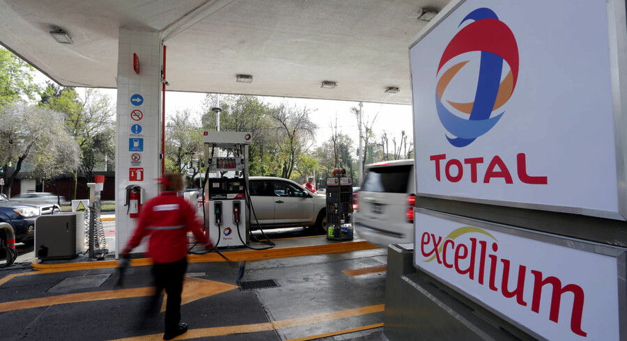 The logo of French oil giant Total is seen at its first gas station in Mexico City, Mexico January 25, 2018. REUTERS/Daniel Becerril
