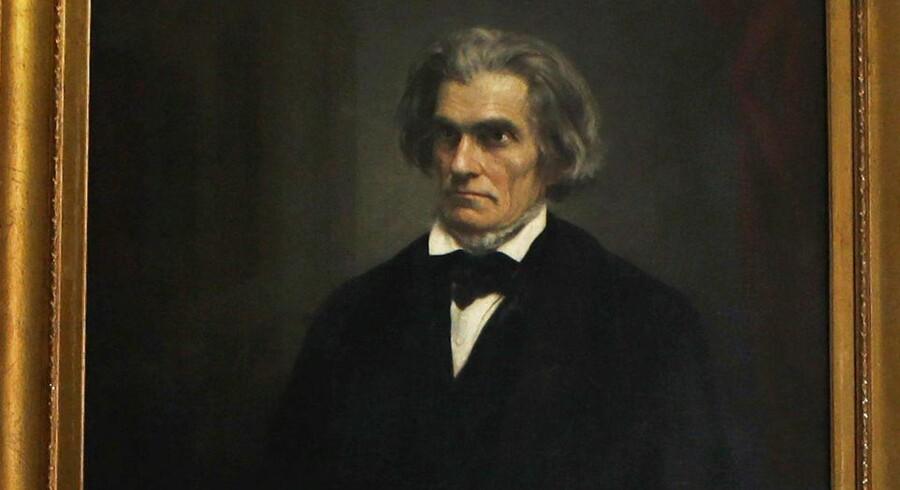 Portræt af John C. Calhoun, der ikke længere skal lægge navn til område på Yale University.