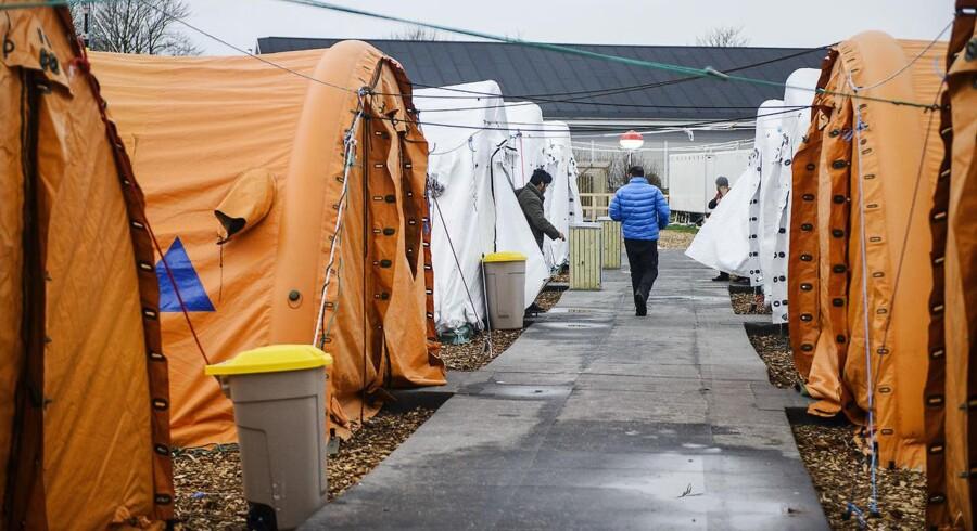 I teltlejren i Thisted, som i øjeblikket huser godt 200 enlige mænd, besluttede ledelsen tidligere, at der fra 1. marts ikke længere skulle være vagtværn tilknyttet lejren.