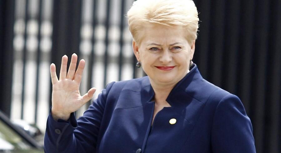 Litauens præsident Dalia Grybauskaite besøger blandt andet en række virksomheder under sit besøg i Danmark. Reuters/Jerzy Dudek