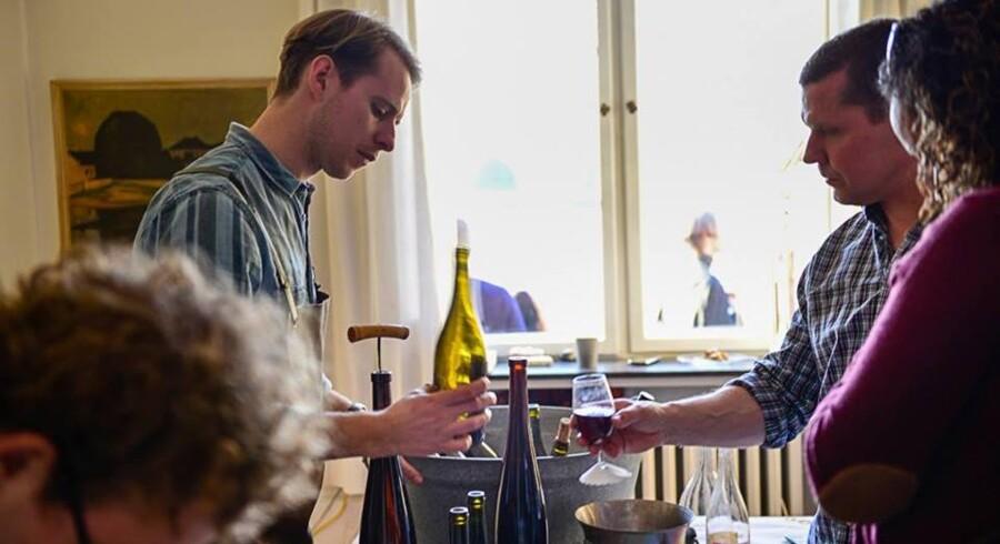 Christopher Melin importerer vin fra Tyskland og Frankrig og sælger primært til danske restauranter eller til private gennem sin webshop. Foto: Privat.