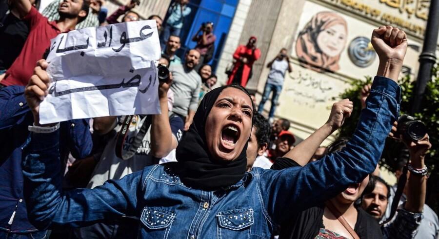 Store demonstrationer er i gang i Egypten.