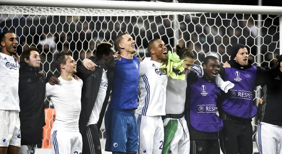 Med et 0-0-resultat hjemme mod Ludogorets lykkedes det FC København at gå videre i Europa League. Ønskemodstanderen for Youssef Toutouh er Manchester United. (se Ritzau historie 240600) Europa League i Telia Parken torsdag d.23.2 mellem FCK-Ludogorets.