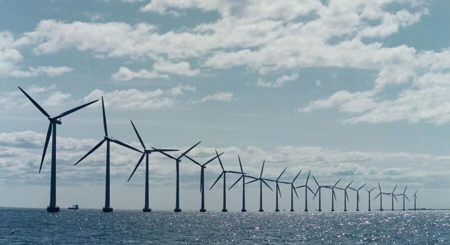 ARKIVFOTO: Det svenske energiselskab Vattenfall er udvalgt til at opføre havvindmølleparken Horns Rev 3 ud for Esbjerg.