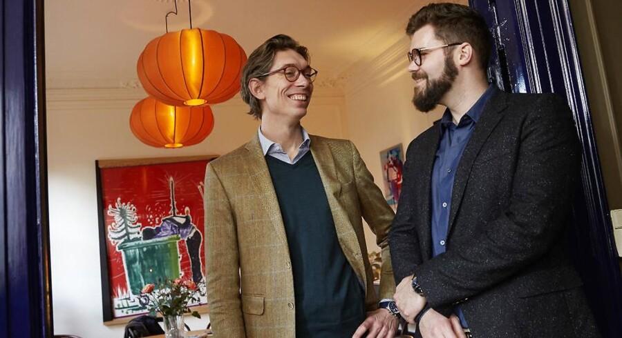 Superiværksætterne Morten Strunge (til højre) og Johan Bülow har skudt penge i et nyt ejendomsmæglerfirma med liebhavermægleren Adam Schnack (til venstre) i front.