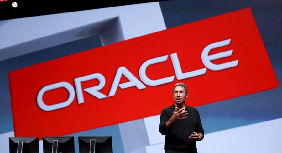 Arkivfoto. Den amerikanske softwareproducent Oracle mærker allerede effekten af en styrket dollar på selskabets bundlinje.