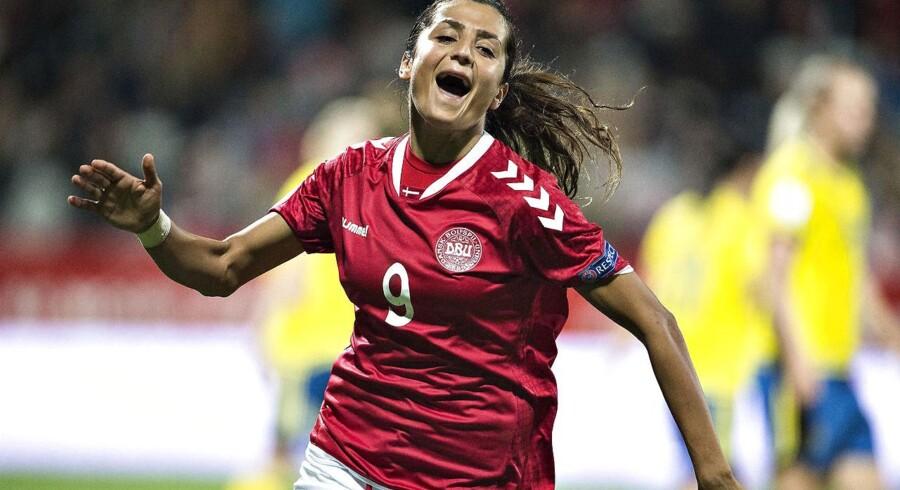 Årets Dansker (2017) Nadia Nadim åbnede hurtigt sin målkonto i sin nye klub. Arkivfoto.