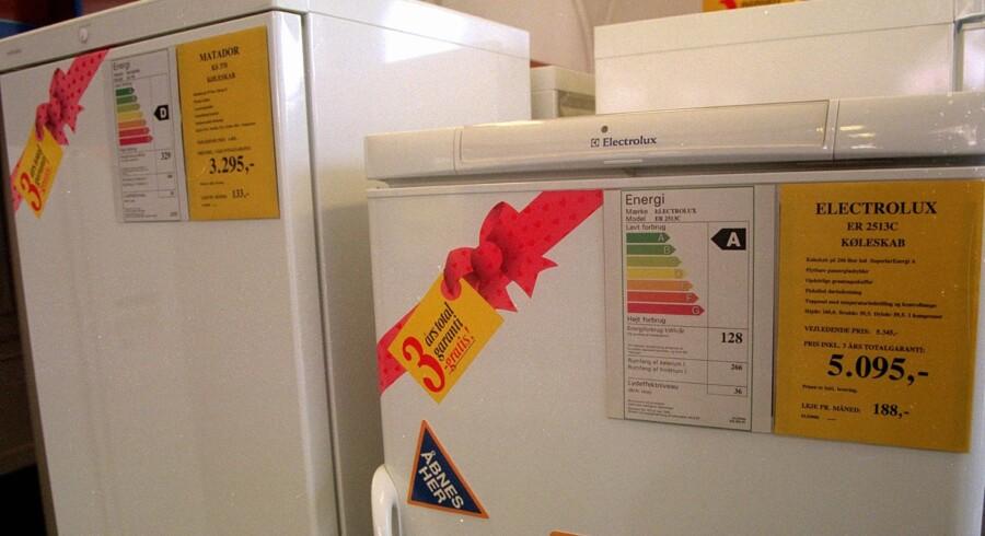 Fremover skal du ikke længere skelne mellem A+ og A++, når du køber køleskab. Scanpix/Jan Jørgensen